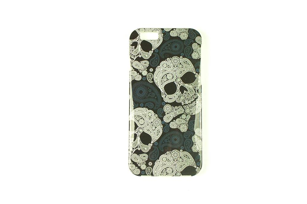 Bloemen Doodskop iPhone 6 Cover