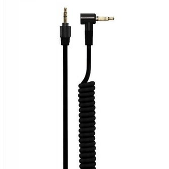 4.2mm Coiled Kabel met 3.5mm Twist Lock Plug Zwart