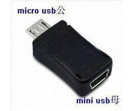 Adapter van Micro USB naar Mini USB