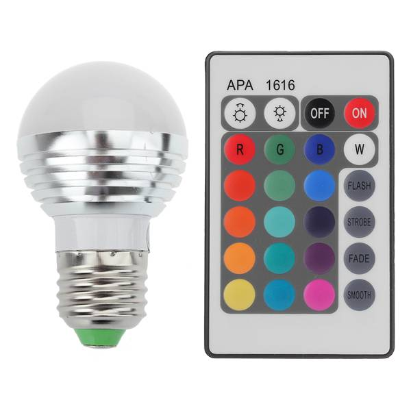 led lamp kleur met afstandsbediening 3w xl i tech66
