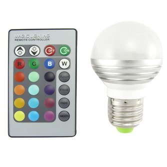 LED Lamp Kleur met Afstandsbediening 10W