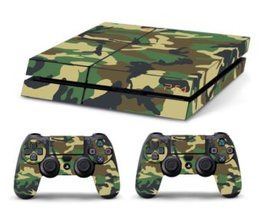Sticker Groen Legerpatroon voor de Playstation 4
