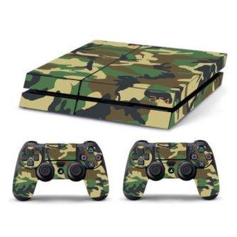 Sticker Groen Legerpatroon voor de Playstation 4