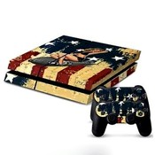 Sticker USA Bomber Girl voor de Playstation 4