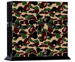 Sticker Bruingroen Legerpatroon voor de Playstation 4