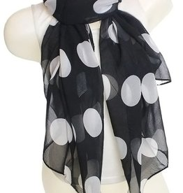 Scarf 'white spots on black'