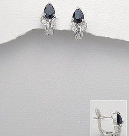 Earrings 'Midnight Blue Sapphire'