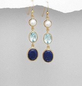 Oorbellen 'Lovely Shades of Blue'