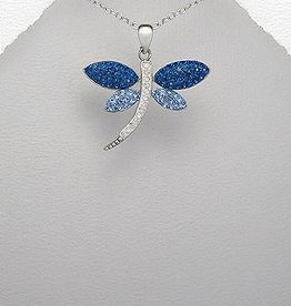 "Hanger 'Blue silver Dragon fly"""