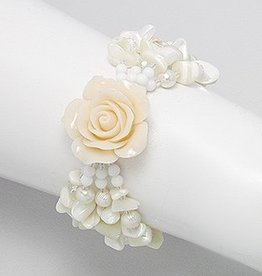 "Bracelet ""Roses and Pearls"""