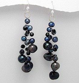 Earrings 'Black Pearls'