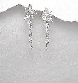 Oorbellen 'Silver Butterflies'
