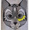 Hebe T-Shirt Jecabs, gray melange, contrast collar