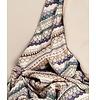 Garbo&friends Deken Snuggle grey/purple, 100% biologisch katoen, GOTS certified