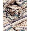 Garbo&friends Blanket Snuggle grey/purple, 100% organic cotton GOTS certified