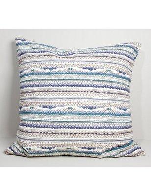 Garbo&friends Cushion gray / purple, 100% organic cotton GOTS certified