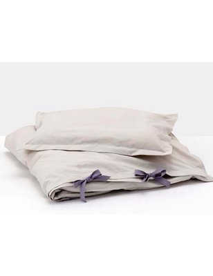 Garbo&friends Duvet and Pillow cover gray / purple, 100% organic cotton
