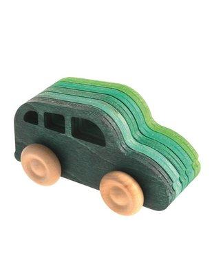 Grimms Bouwset Auto , met de bouw instructie en katoenen tas