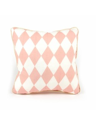 Nobodinoz Pillow Joe Pink Diamonds, 100% cotton, produced in Spain