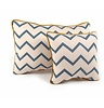 Nobodinoz Pillow Joe Blue ZigZag, 100% cotton, produced in Spain