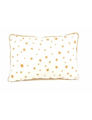 Nobodinoz Pillow Jack Mustard Stars, 100% cotton, produced in Spain