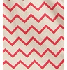 Nobodinoz Cushion Pink ZigZag, 100% cotton, produced in Spain
