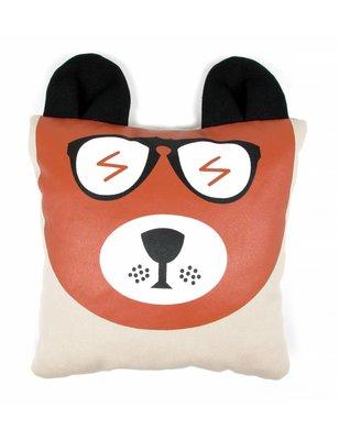 Nobodinoz Safari Grizzly cushion, cotton produced in Spain