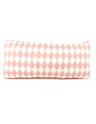 "Nobodinoz Pillow Averell Pink Diamonds, 100% cotton, pink ""diamonds"" pattern, produced in Spain"