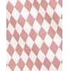"Nobodinoz Kussen Averell Pink Diamonds, 100% katoen, roze ""diamonds"" dessin, geproduceerd in Spanje"