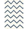 """Nobodinoz Kussen Averell Blue ZigZag, 100% katoen, blauwe """"zigzag"""" dessin, geproduceerd in Spanje"""