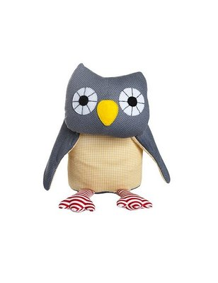 Franck & Fischer Asta Grey Owl Plush, 100% cotton, this gray owl is certainly no gray mouse