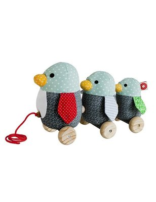 Franck & Fischer Gufo Pull Toy, 100% cotton and Namu wood