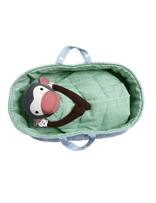 Franck & Fischer Carrycot for stuffed monkey, organic cotton, certified