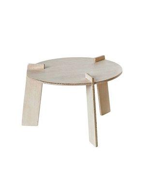 Franck & Fischer Tafeltje voor knuffelaapjes, hout, gecertificeerd, exclusief aapknuffels, stoeltjes, tuin en andere accessoires.