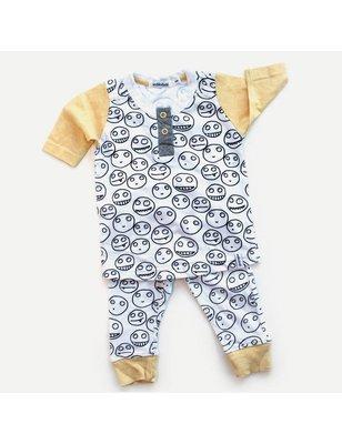 Indikidual Pyjama Ce Soir, biologisch katoen, contrast mouwen