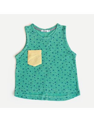Indikidual Tanktop Grape Diamond print, 100% biologische katoen single jersey, Indikidual