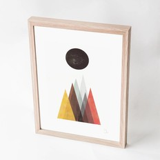 "Blanca Gómez A4 print, ""Mountain and moon"""