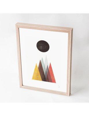 "Blanca Gómez A4 print, ""Mountain and moon"", 190 grs"
