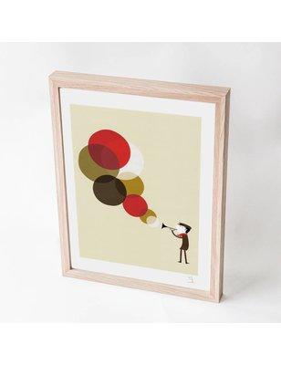 "Blanca Gómez A4 print, ""Jazzman"", 190 grs"
