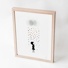 "Blanca Gómez A4 print, ""Mademoiselle under the rain"""