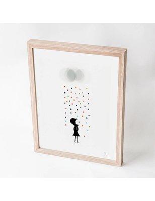 "Blanca Gómez A4 print, ""Mademoiselle under the rain"", 190 grs"