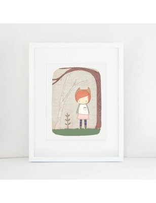 "Nomuu A4 print, ""Lively in the woods"", 308 grs, milieu vriendelijk, acid free, Cotton Rag Paper"