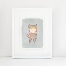 "Nomuu A4 print, ""Bear girl"""