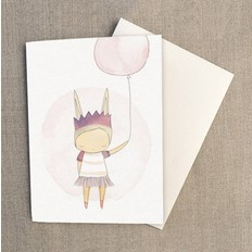 "Nomuu Double card (A6), ""Ballerina bunny rabbit"""