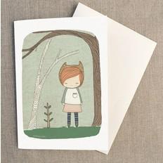 """Nomuu Dubbele kaart, """"Lively in the woods"""", geleverd met enveloppe"""