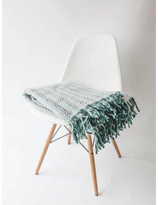 Klippan Deken Mozaiek Blauw / Groen, 100 % lamswol