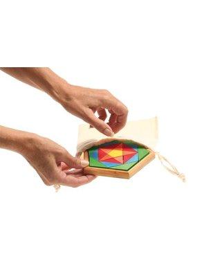 Grimms Klein Opbergzakje van katoen voor het dragen en opbergen van puzzels en dergelijke