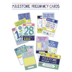 Milestone cards Milestone pregnancy cards English