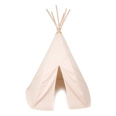 Nobodinoz Tipi Tent Sand and White Stars
