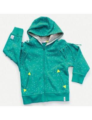 Indikidual Sweater Tillburg , fringes and hooded , organic cotton nap yarn, unbrushed inside
